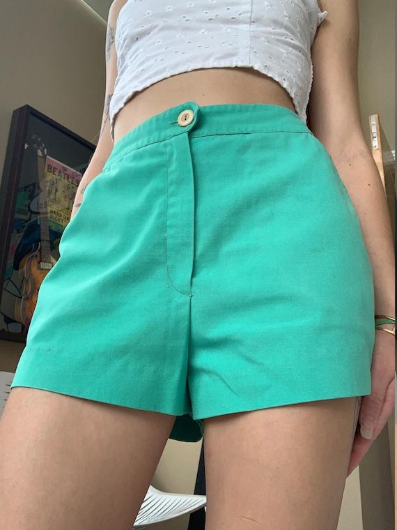 1960s mint green high waisted shorts