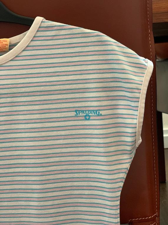 Vintage 1950s Spalding striped t-shirt rare vinta… - image 2