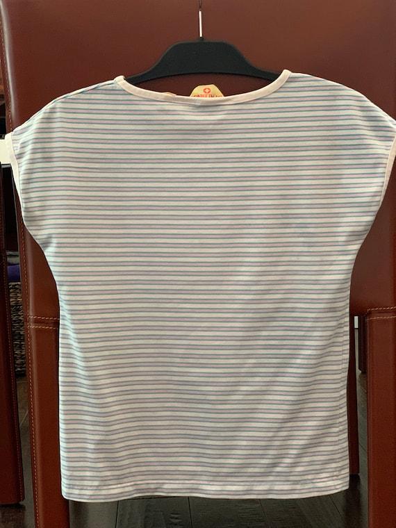 Vintage 1950s Spalding striped t-shirt rare vinta… - image 3