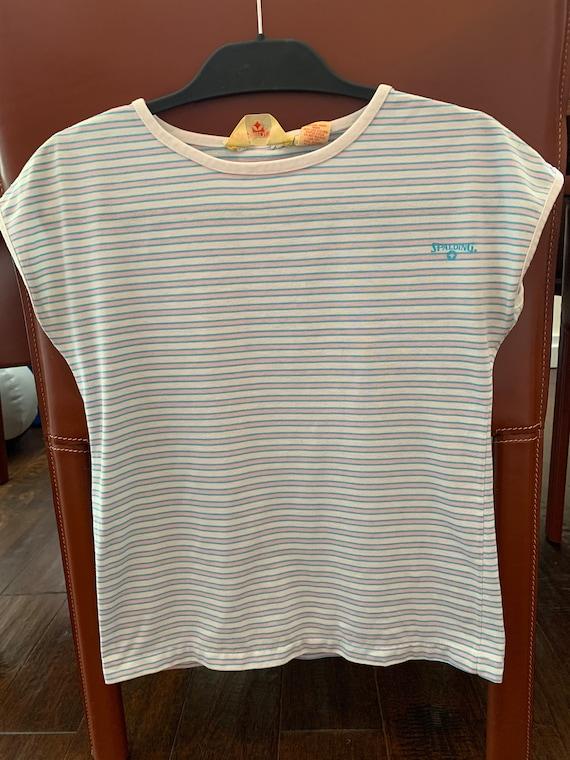 Vintage 1950s Spalding striped t-shirt rare vinta… - image 1