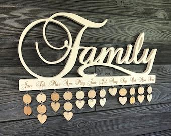 Family Calendar (Heirloom White)
