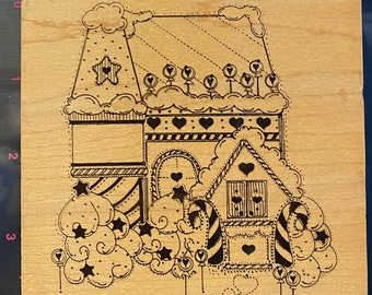 J842 Christmas Cottage by Annette Allen Watkins