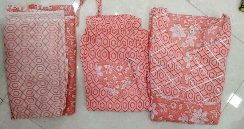 Women Pakistani Salwar Kameez Dupatta Readymade Peach Palazzo Kurta Cotton Suit Peach Color Kurti