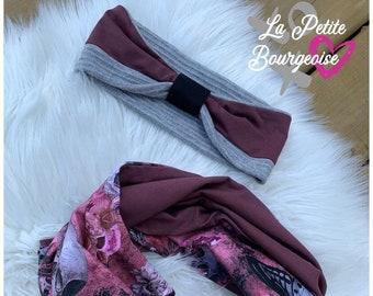 Warm headband set and infinite scarf Romantic Skulls