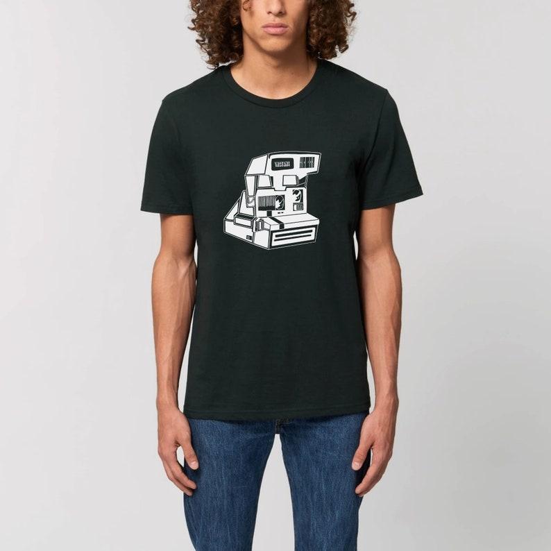 Instant Camera  Unisex T-shirt  Polaroid  Black and white  image 1