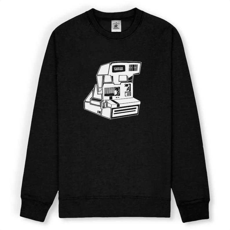 Instant Camera  Unisex sweatshirt  Polaroid  Black and image 1
