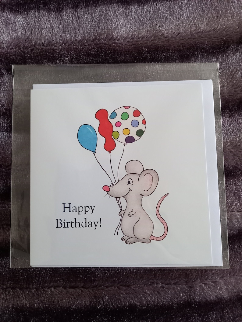 Happy Birthday Mouse Card image 0