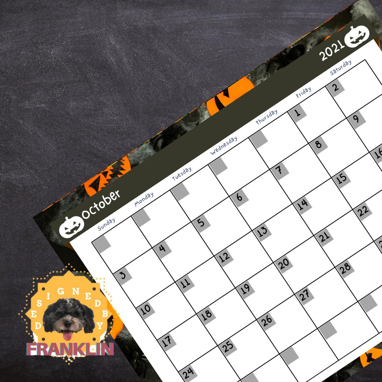 Classic Calendar for 2021 and Blank Printable Calendar ...