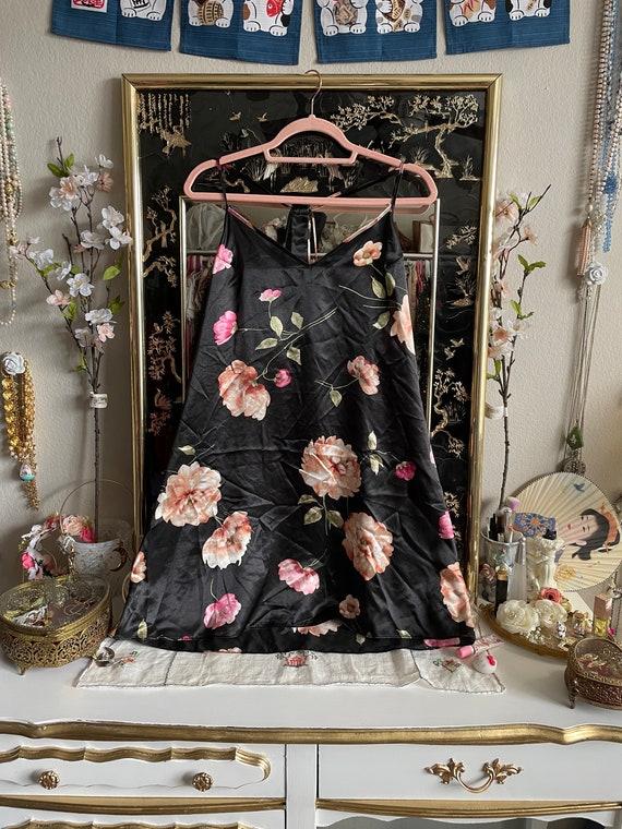 y2k Floral Print Slip Dress - image 1