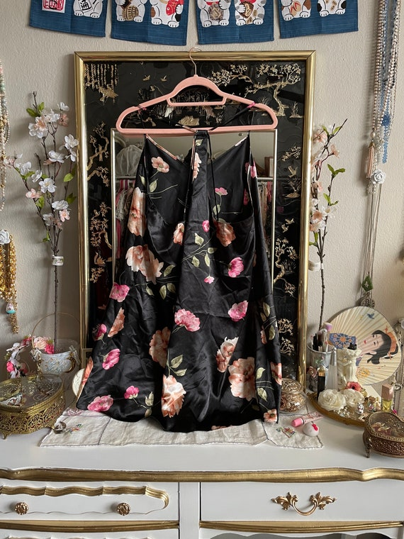 y2k Floral Print Slip Dress - image 3
