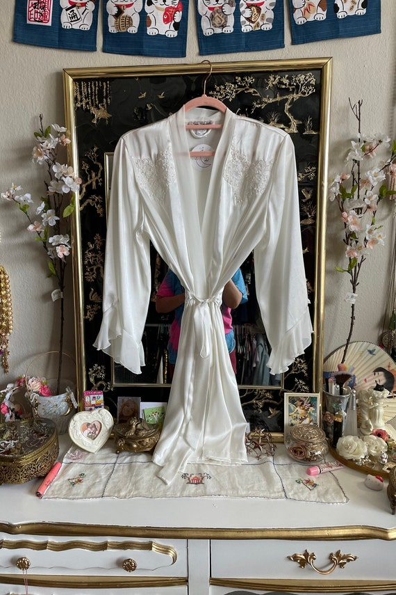 90s Sequin Bridal Honeymoon Robe