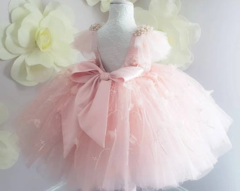 Cute Puffy Flower Girl Dress With Tulle, Lace, Satin & More