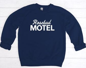 MOTEL UNISEX SWEATSHIRT - Comfy Crew Neck - Rose - Sweatshirt - Sweater - T V Show - Birthday Gift - Fun Gift - Handmade Unisex Crewneck