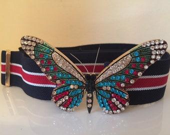 Kyramade vegan suede butterfly belt