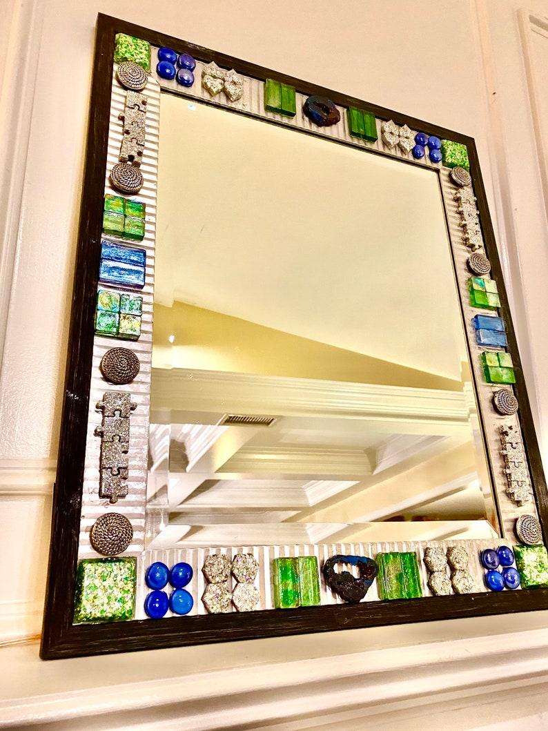Galvanized steel mirror