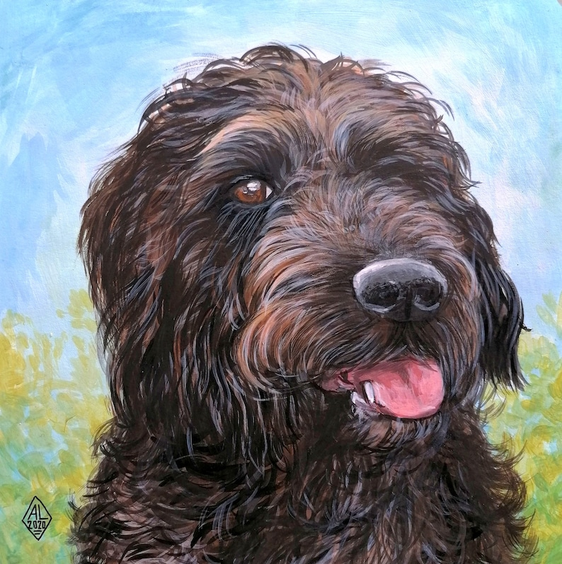 Bavarian Mountain Dog Pet Remembrance Custom Painted Pet Portrait From Photo Commission Dog Painting