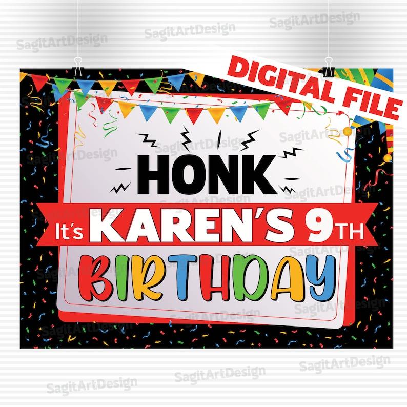 Birthday Lawn Sign Quarantine Birthday Birthday Yard Sign DIGITAL Honk sign Happy Birthday Sign Happy birthday yard sign Yard Sign