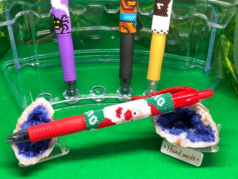 Santa Clause! G2 Hand Beaded Pen with FREE Velvet Gift Bag and Multiple Color Options