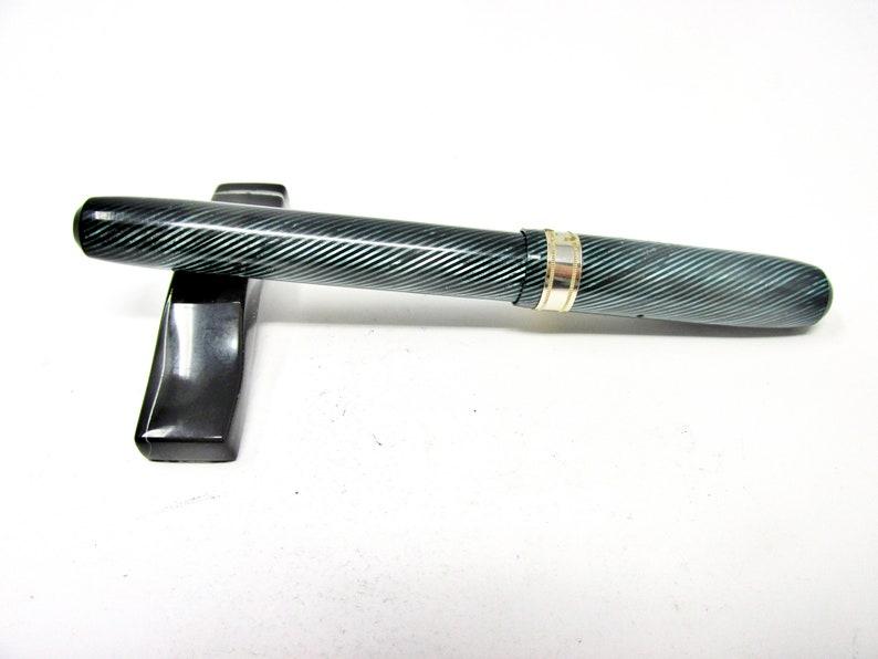 Wearever Subbrand 1930s hard to find Near mint Vintage Jefferson BlueGreenBlack Striped Fountain Pen