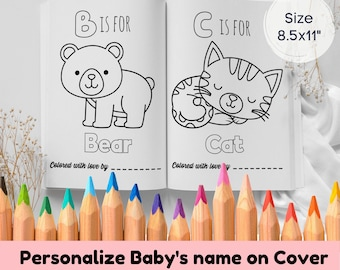 """Baby Shower Coloring Book for girls 8.5x11"""" 