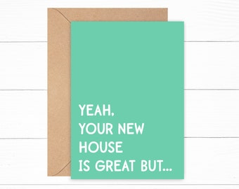 Funny New Home Greeting Card | House Warming Gift | New House Card | Happy New Home Card | First Time Homeowner Card | House Warming Card