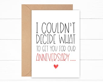 First Anniversary Card for Husband | Happy Anniversary Greeting Card | Wedding Anniversary Greeting Card | Funny Anniversary Card | Gay Card
