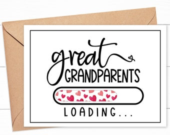 Golden Great parents announcement pregnancy 2021 Cards Announces Pregnancy Great-Grandmother and Great-Grandfather pregnancy card