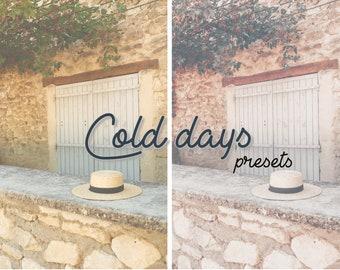 Cold days - 2 Mobile Lightroom Presets & Instagram Story Filter, Iphone Presets, Mobile Presets, Instagram Filters, Preset, Colorful Mobile