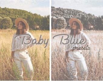 Baby Blue - 2 Mobile Lightroom Presets & Instagram Story Filter, Iphone Presets, Mobile Presets, Instagram Filters, Preset, Colorful Mobile