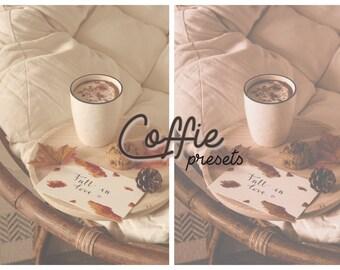 Coffie - 2 Mobile Lightroom Presets & Instagram Story Filter, Iphone Presets, Mobile Presets, Instagram Filters, Preset, Colorful Mobile