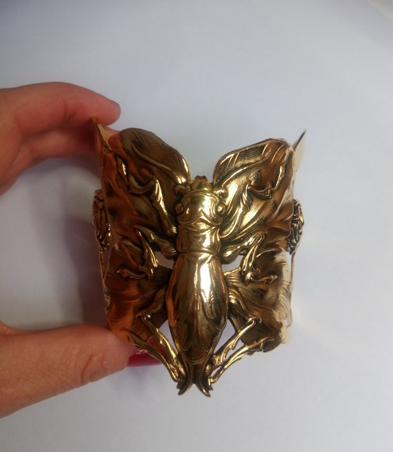 BRACELET  BUTTERFLY gold metal