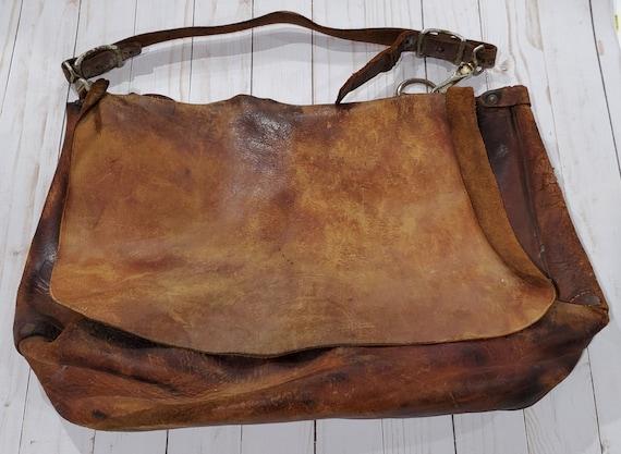 Vintage postal leather satchel