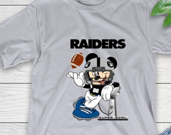 Las Vegas Raiders American Football Team Mickey Mouse Walt Disney T Shirt