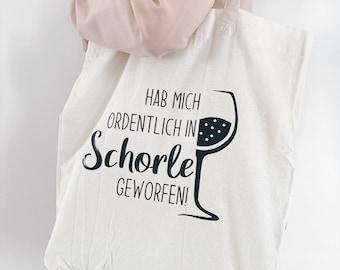 Cotton bag   I've thrown me neatly into Schorle   Saying   Weinschorle  Shopping bag   Jute bags   Fabric bag   small-fine