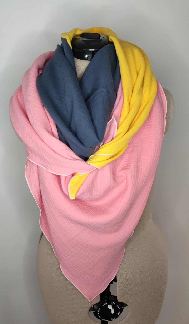 Musselintuch XL Colorblocking