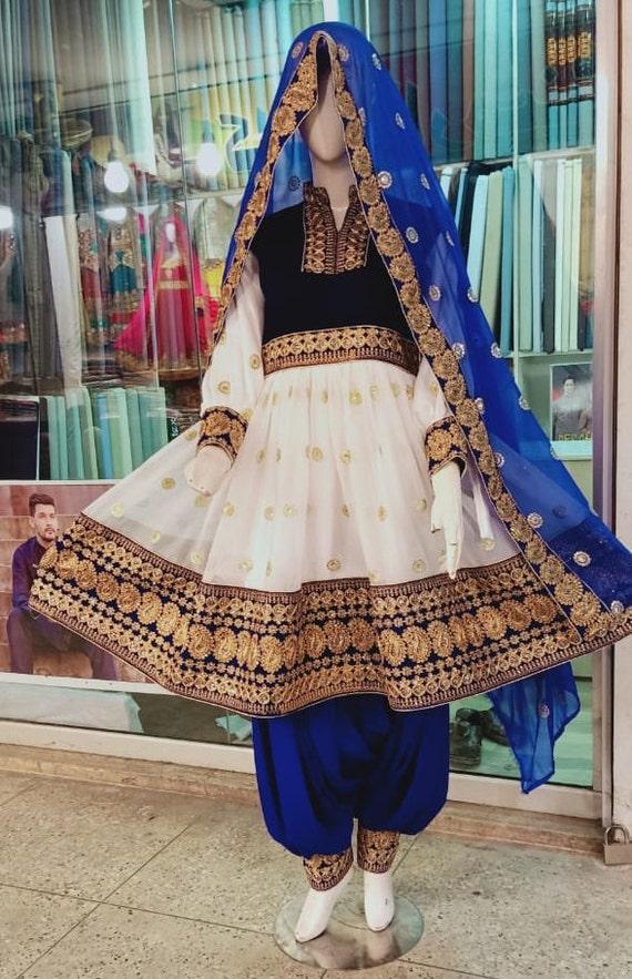 AFGHAN KUCHI BANJARA PAKISTANI TRIBAL DRESS EMBROIDERY KURTI WOMEN 3 Pc Green