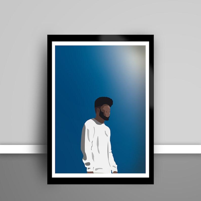 Khalid Poster Customizable American Teen Minimalist Modern Art Print