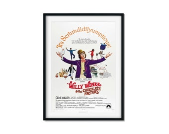 Willy Wonka Inspired Factory Tour Invitation Movie Prop A4 A3 A2 Art Print