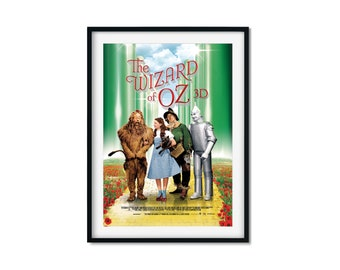 The Wizard of Oz DIGITAL DOWNLOAD, Movie Art Print, Printable Movie Poster, Film Art Print
