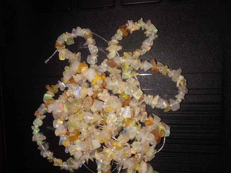 Jewellery Making Raw Fire Opal Uncut Beads Strand Necklace Jewelry For Women