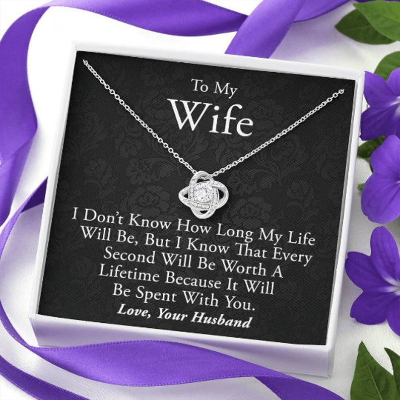 Anniversary Gift for Wife Gift for Wife Birthday Gift for Wife To My Wife Necklace Birthday Gift for Wife Necklace for Wife