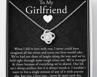 Girlfriend Necklace: Anniversary Gift for Girlfriend, Girlfriend Gift, Gift for Girlfriend, Necklace for Girlfriend