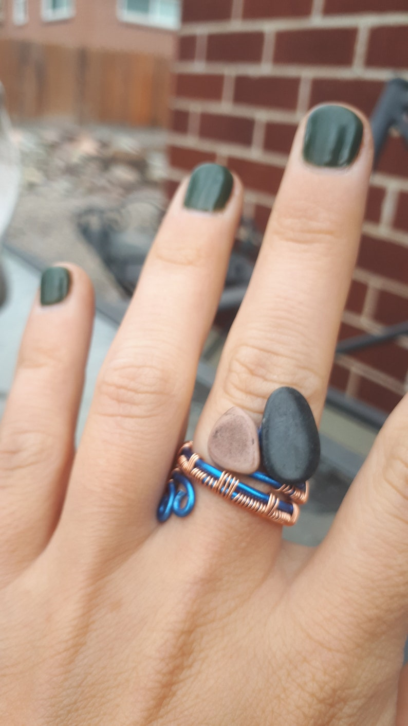 Wrapped Wire Ring Boho Ring,