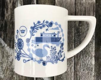 Canal Boat - China Mug