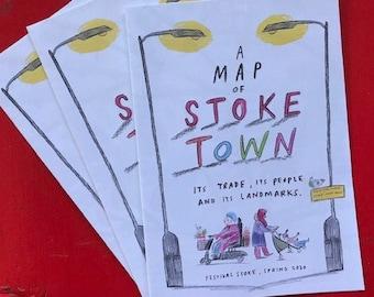 Artist Map of Stoke (Mapzine)