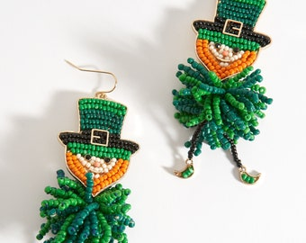 St Holiday Earrings Patricks Accessories Ladies Earrings Girls Earrings Patricks Earrings Leprechaun Earrings Gifts For Her St