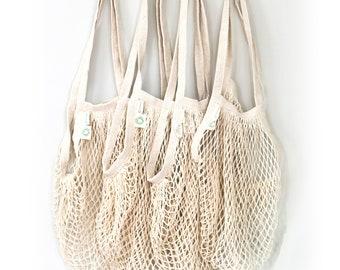 Fishnet market bag|String bag | Shopping Bag ,|reusable shopping grocery bag| tote, mesh,by Ekolojee +Gift! zero waste packaging