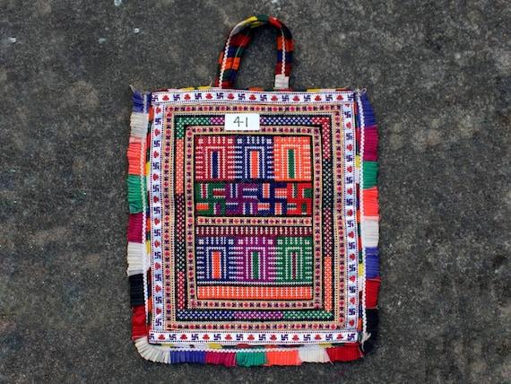 Kutch Embroidery Vintage Handmade Theli Mirror Work Theli Bag Boho Hippie Antique Kutch HAndbag Traditional Banjara Mirror Work Theli
