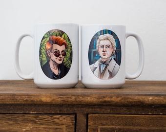 Good Omens Mug - Aziraphale and Crowley Couple Portraits