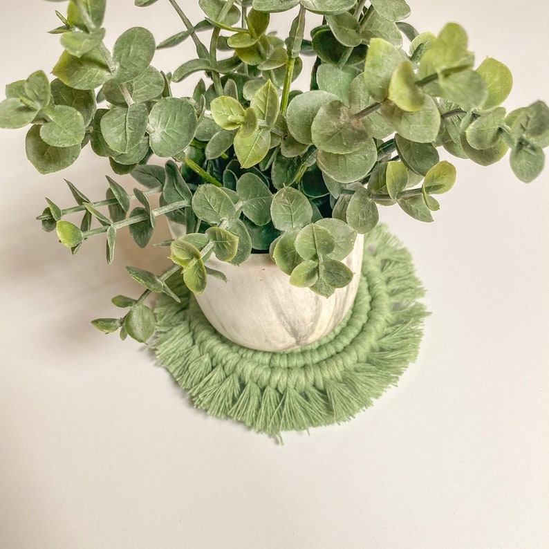 Coasters Gifts for Her Macrame Coasters Plant Coasters Drink Coasters